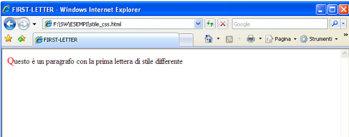 First-letter CSS
