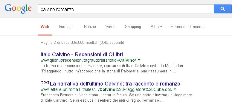 Google - Comando + più