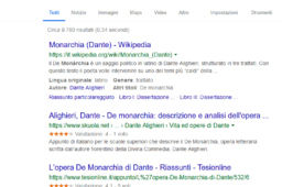 La ricerca in rete: comandi di ricerca avanzati