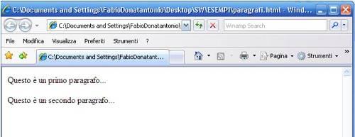 Paragrafi HTML